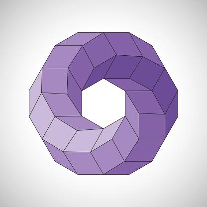 Geometric Multi Faceted Torus 3D Simulation
