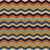 Geometric multicolor chevron or zig zag, seamless tribal pattern