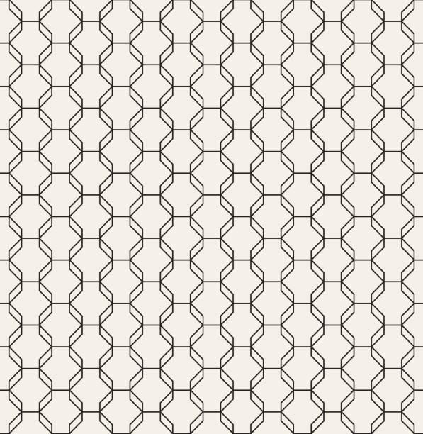 stockillustraties, clipart, cartoons en iconen met geometrische achthoek patroon vector naadloze - achthoek
