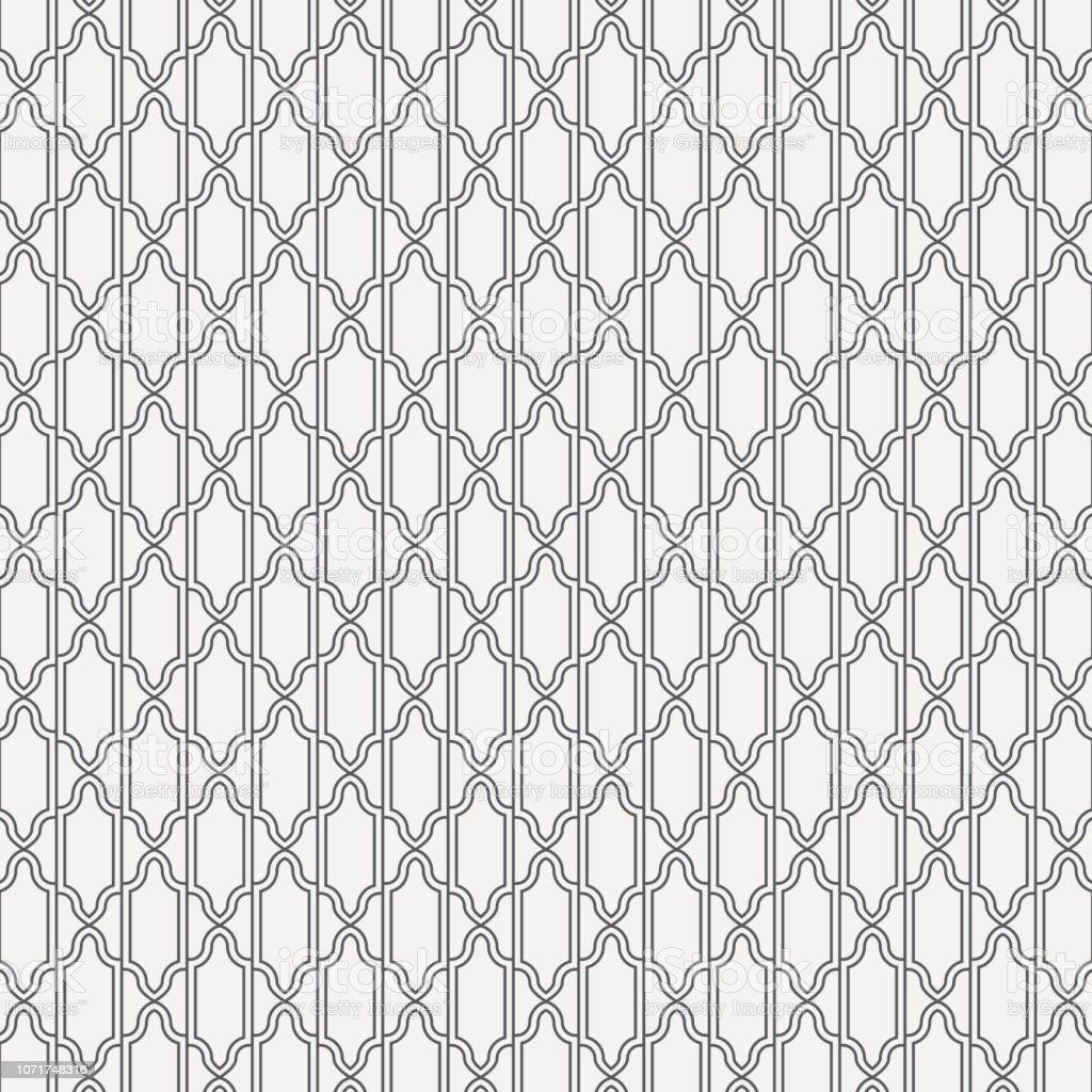 Geometric of Turkish Mosque Window Vector Pattern. Ramadan mubarak muslim background. Traditional ramadan kareem mosque pattern with gold grid mosaic. Islamic window grid design vector art illustration