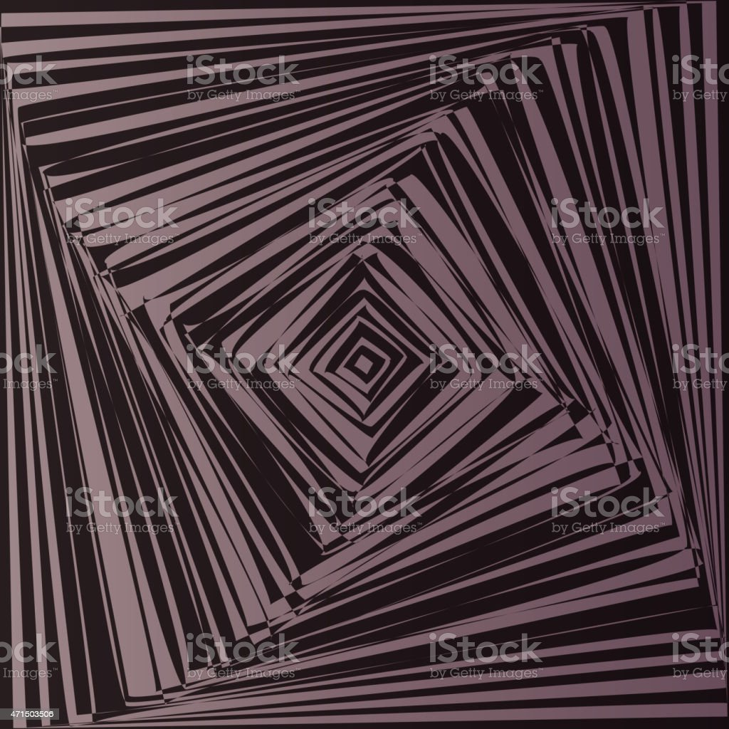 Geometric optical illusion stock vector art more images for Geometric illusion art