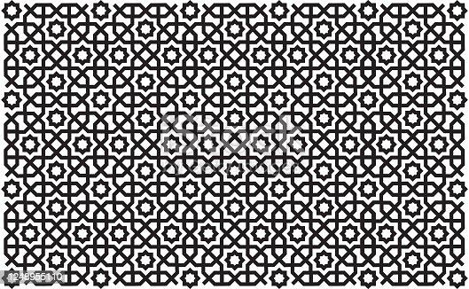 istock Geometric oriental / islamic seamless pattern. 1248955110