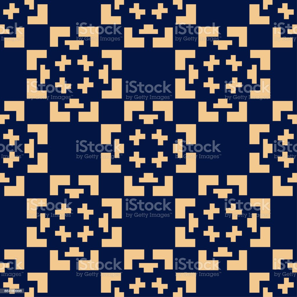 Geometric ornament. Golden blue seamless pattern royalty-free geometric ornament golden blue seamless pattern stock vector art & more images of art product