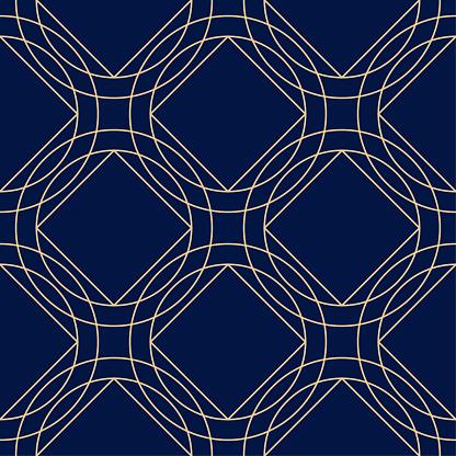 Geometrisches Ornament Golden Blau Nahtlose Muster Stock Vektor Art und mehr Bilder von Abstrakt