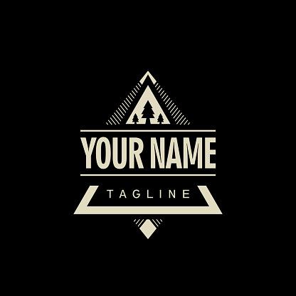 Geometric Outdoor Badge Brand Identity Logo