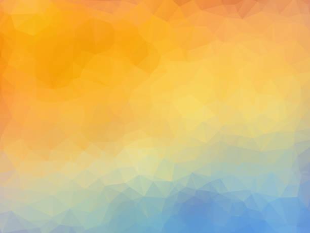 geometric pastel orange blue pattern vector art illustration