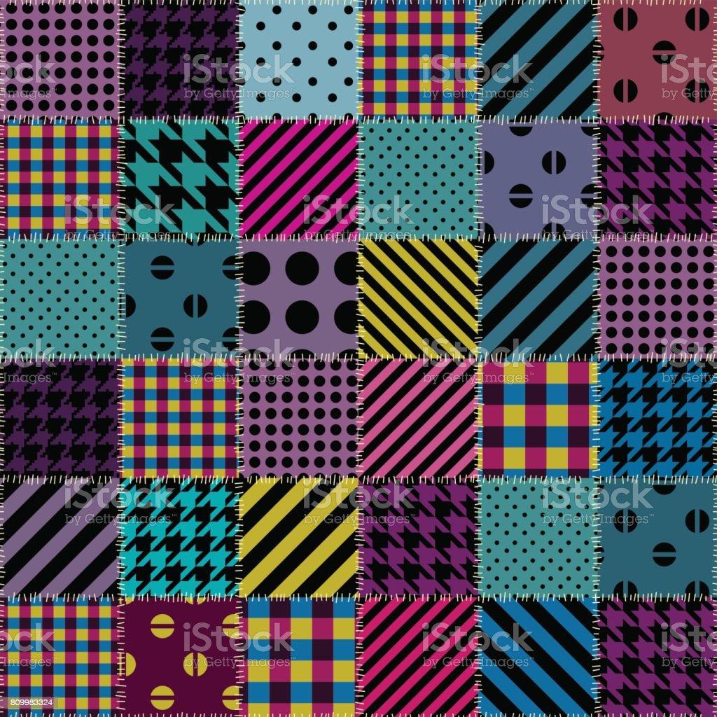 geometrische patchworkmuster von einem quadrate stock vektor art und mehr bilder von biegung. Black Bedroom Furniture Sets. Home Design Ideas