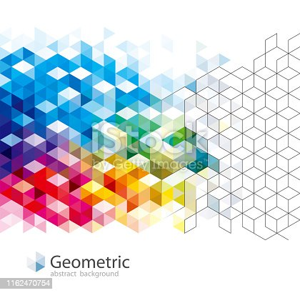 Geometric pattern abstract modern background design.