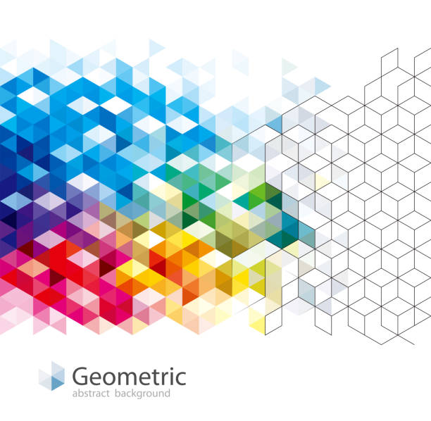 Geometric Pattern Abstract Backgrounds. Geometric pattern abstract modern background design. cube stock illustrations
