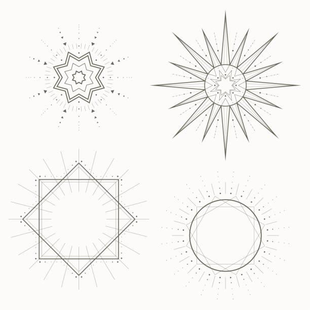 Motif géométrique, Art Déco, style moderne. Formes strictes, illustration vectorielle - Illustration vectorielle
