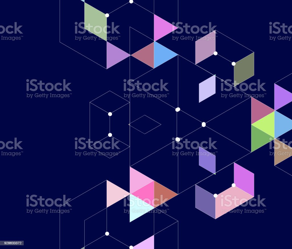 Geometric pattern background vector art illustration