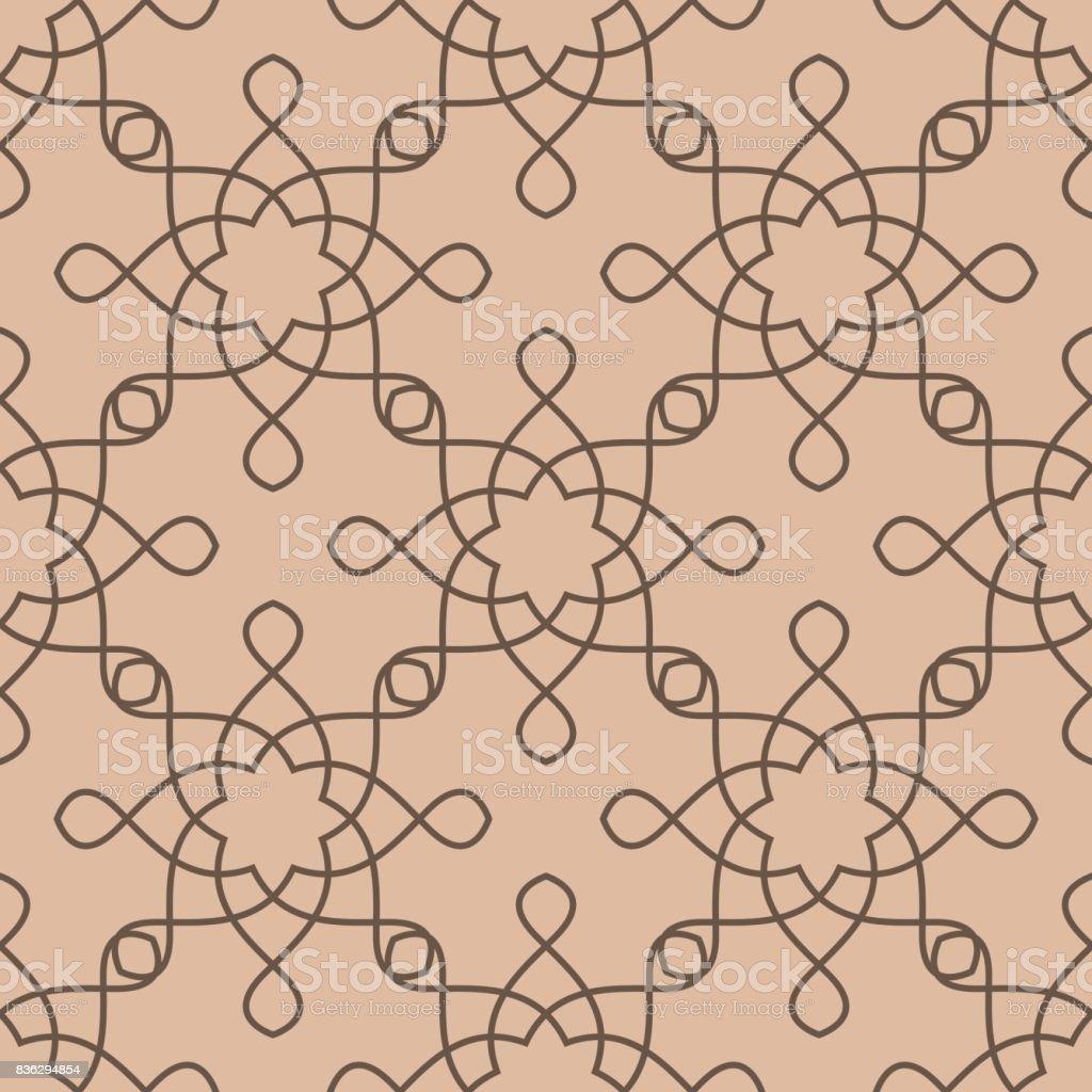Geometrische Muster Für Tapeten. Braun Und Beige Nahtlose Hintergrund  Lizenzfreies Geometrische Muster Für Tapeten Braun