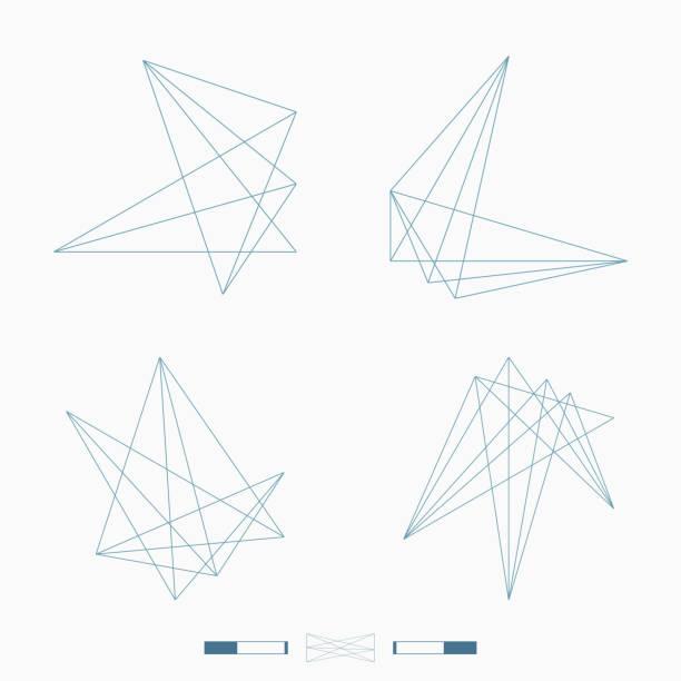 기하학적 패턴 아이콘 - 기하 stock illustrations