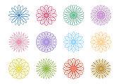 geometric pattern icons set