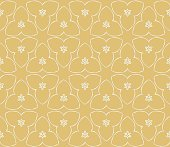 Geometric pattern in lace style. Ethnic ornament. Vector illustration. For modern interior design, fashion textile print, wallpaper.