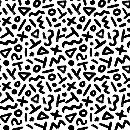 Geometric pattern memphis style background.