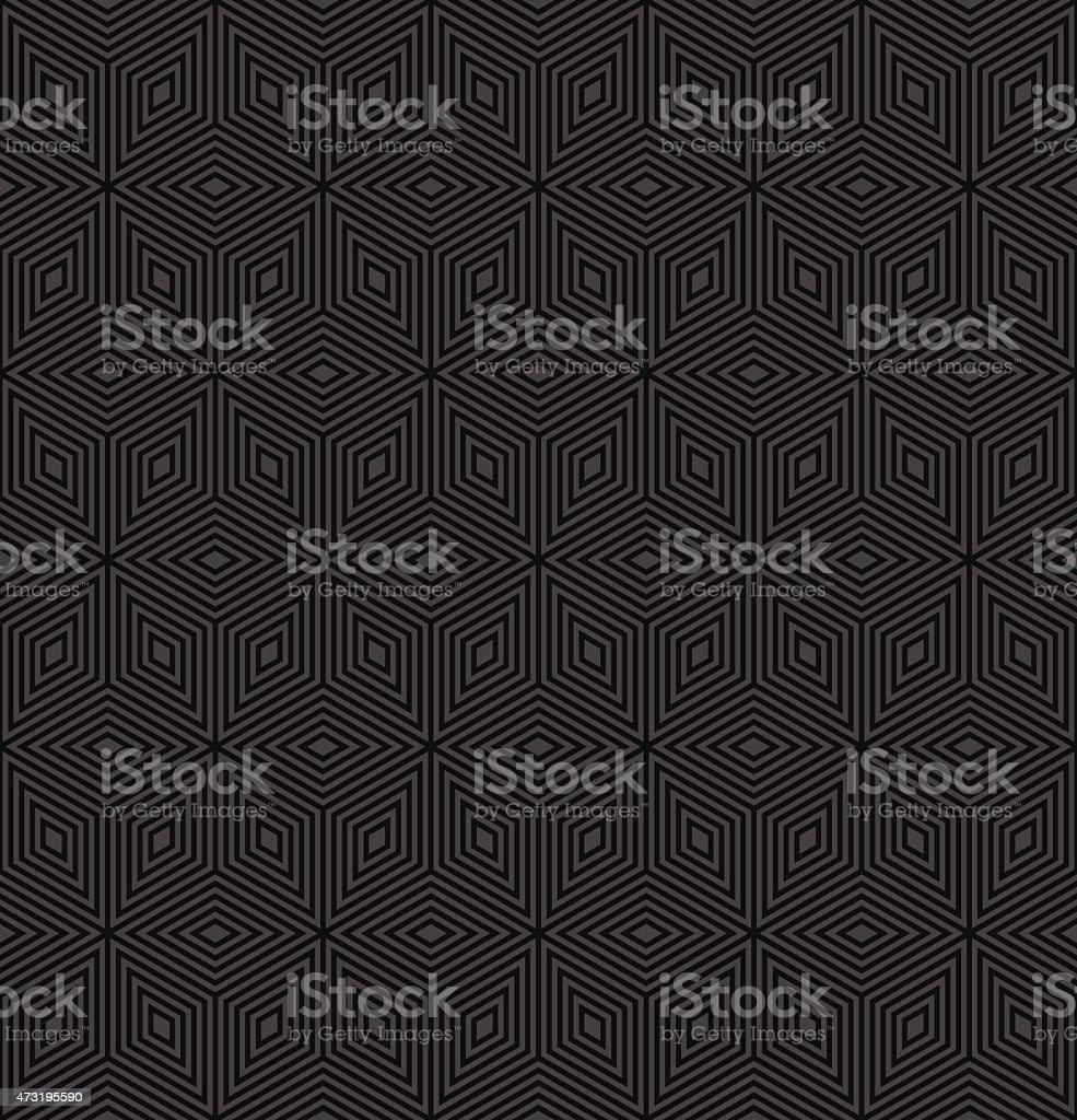 geometric pattern of rhombuses vector art illustration