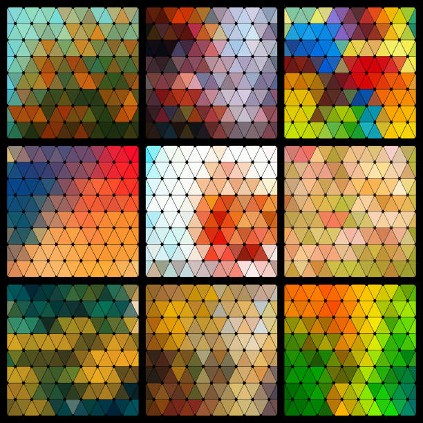 Geometrische Muster-Set – Vektorgrafik
