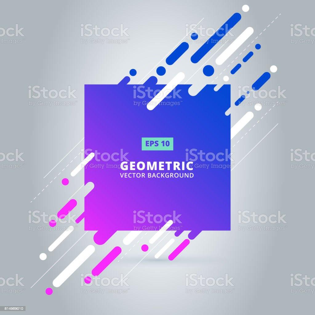 geometric pattern, square shape frame with abstract background for brochure, flyer or presentations design, vector illustration vector art illustration