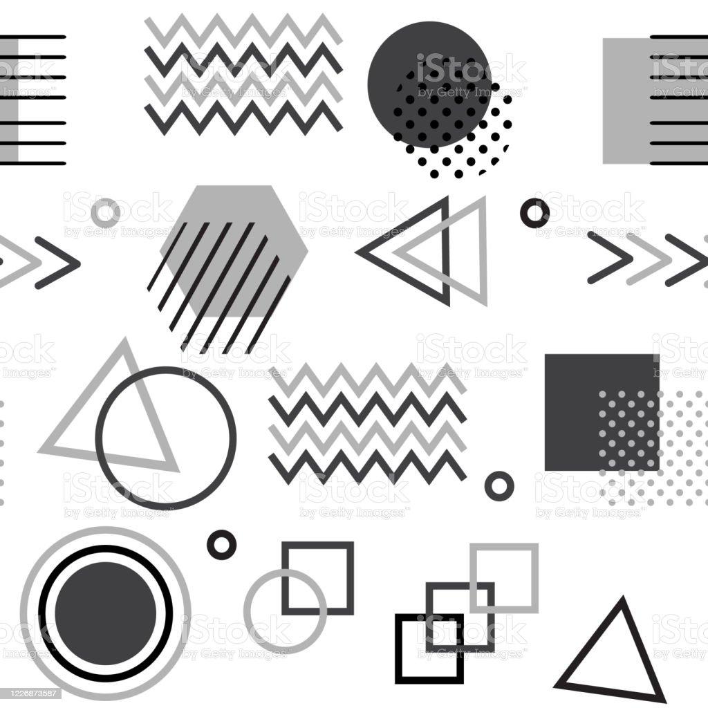 幾何学模様幾何学図形を持つベクトルイラスト - いたずら書きの ...