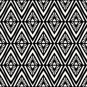 Geometric pattern vector seamless. Abstract modern rhombus texture. Monochrome line background for wallpaper, textile, fabric, wrapping paper or web design.