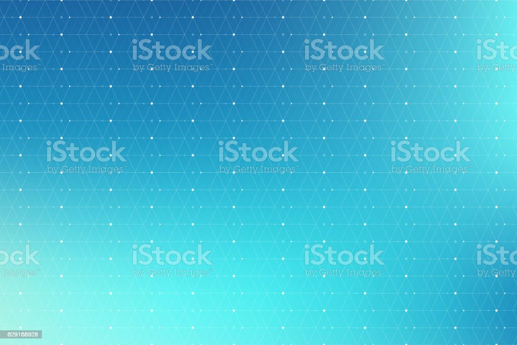 Geometric pattern with connected line and dots. Graphic background connectivity vector art illustration