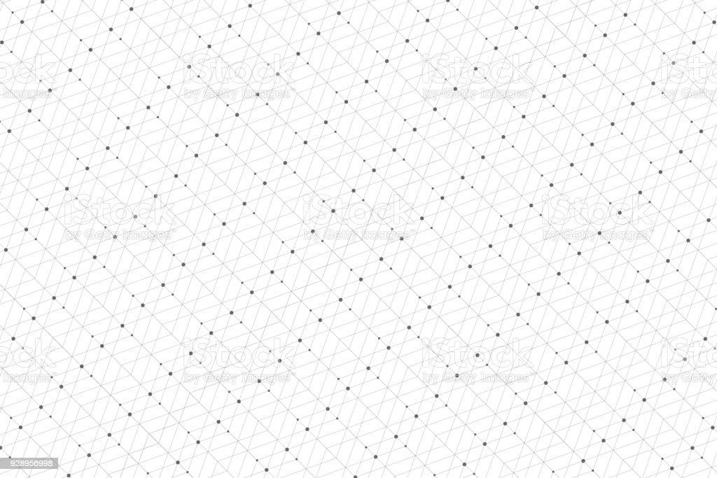 Geometric pattern with connected lines and dots. Graphic background connectivity. Modern stylish polygonal backdrop communication compounds for your design. Lines plexus. Vector illustration - ilustração de arte vetorial