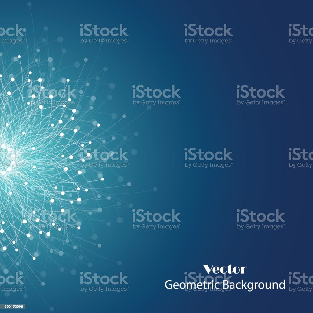 Geometric pattern with connected lines and dots. royalty-free geometric pattern with connected lines and dots stock illustration - download image now