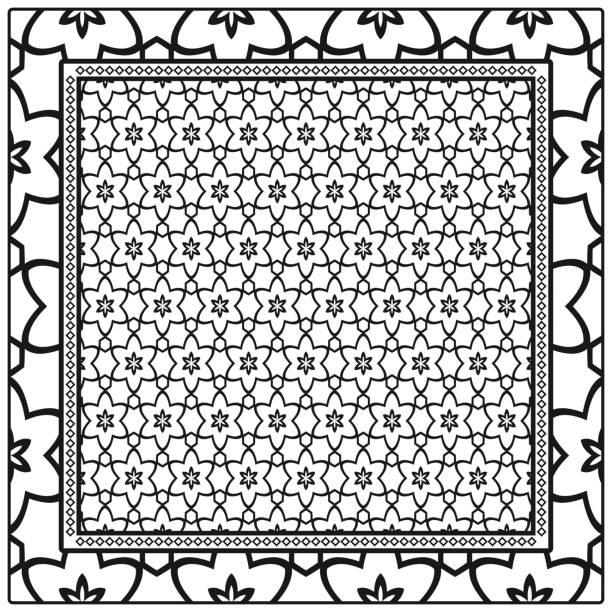 Vectores de Patrones De Crochet Tapiz y Illustraciones Libre de ...