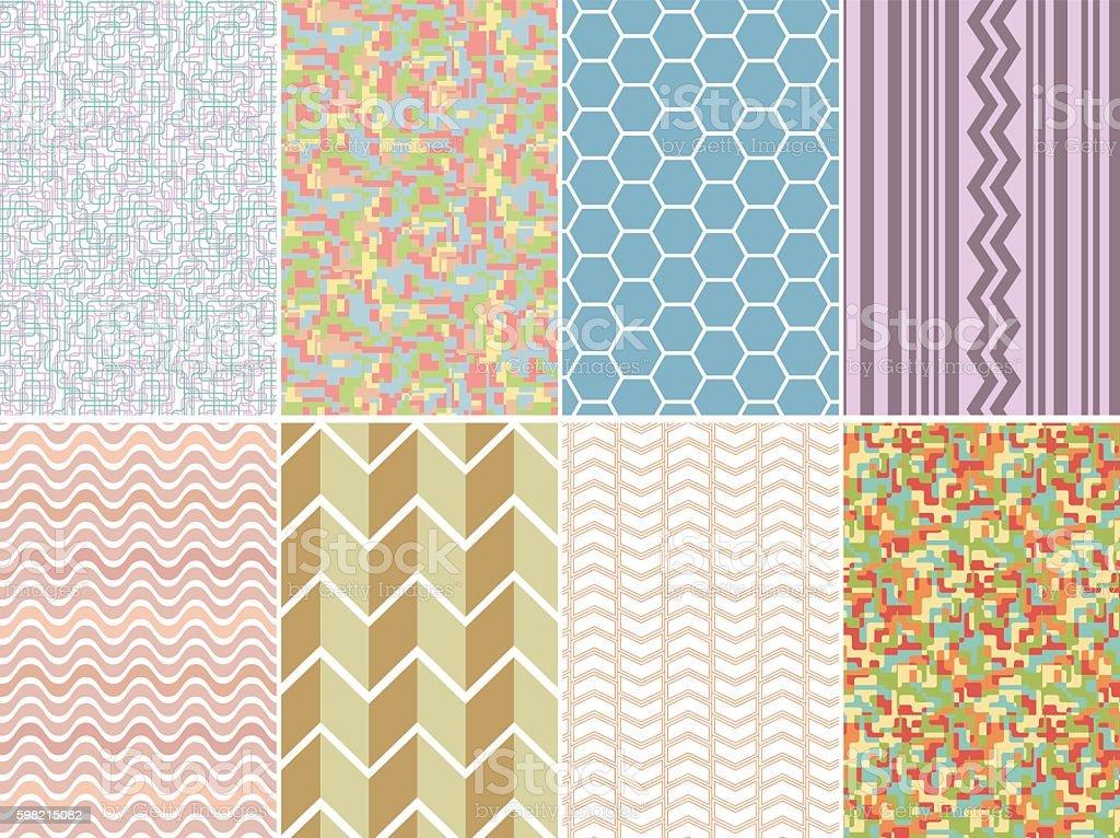 Padrões geométricos conjunto ilustração de padrões geométricos conjunto e mais banco de imagens de abstrato royalty-free