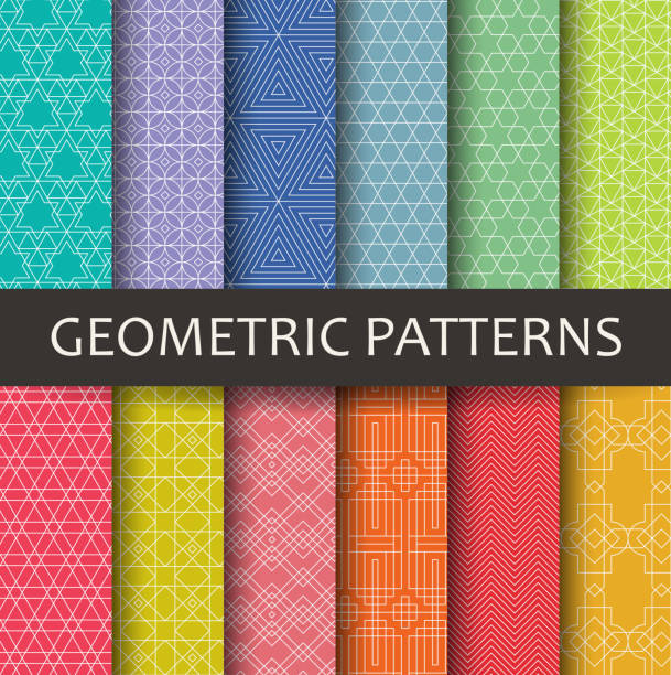 Geometric patterns vector art illustration