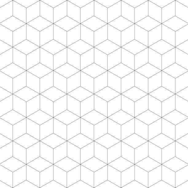 Geometric patterns Geometric patterns cube shape stock illustrations