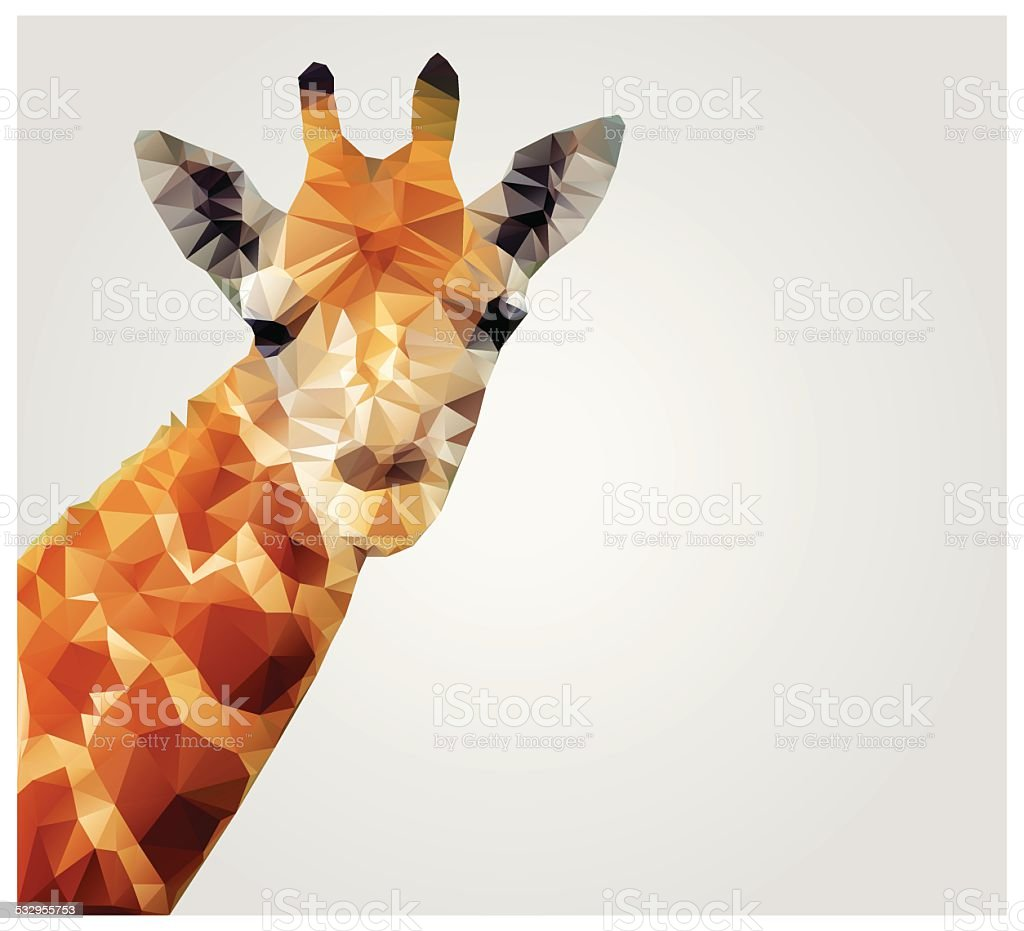 Geometric polygon giraffe, triangle pattern design, vector illustration vector art illustration