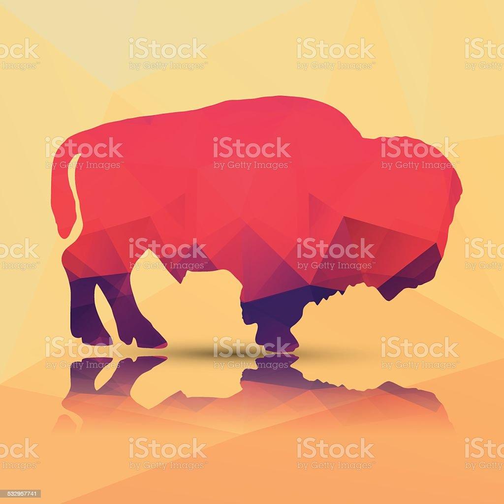 Geometric polygonal buffalo, pattern design, vector illustration vector art illustration