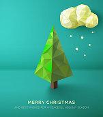 Geometric polygonal Christmas tree