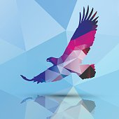 Geometric polygonal eagle, pattern design, vector illustration