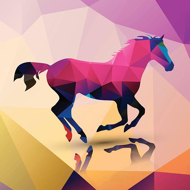 Geometric polygonal horse, pattern design, vector illustration vector art illustration