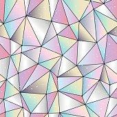 Geometric polygonal background. Cristal gems, gradient seamless pattern in vector.