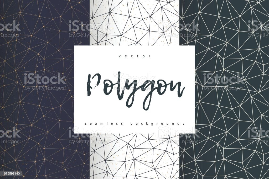 Geometric polygonal seamless backgrounds vector vector art illustration