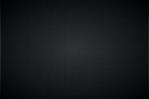 geometrische polygone hintergrund, abstrakt schwarz metallic sechsecke tapete, vektor-illustration - plüschmuster stock-grafiken, -clipart, -cartoons und -symbole
