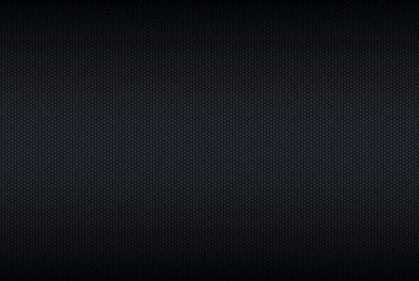 geometrische polygone hintergrund, abstrakt schwarz metallic tapete, vektor-illustration - plüschmuster stock-grafiken, -clipart, -cartoons und -symbole