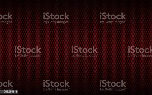 Geometric polygons background, abstract red metallic hexagons wallpaper, vector illustration