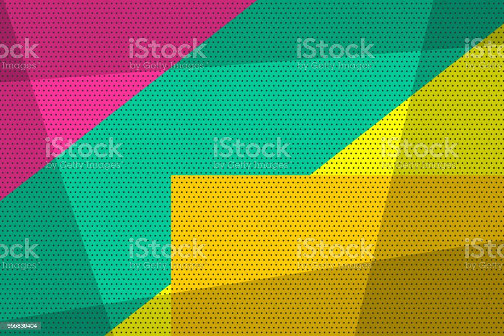 Geometric popo art vintage background vector art illustration