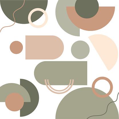 Geometric Poster - Abstract prints and boho wall decor. Mid century modern minimalist neutral art print.