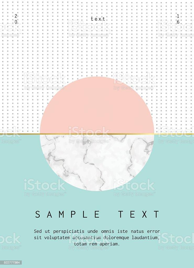 Geometric poster design vector art illustration