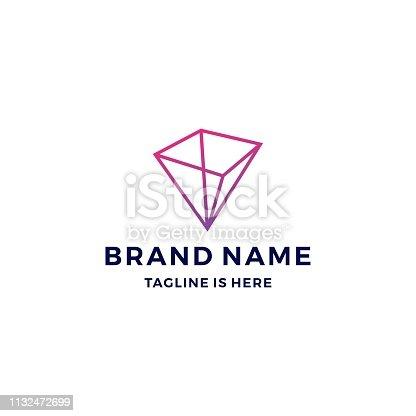 istock geometric prism vector vector 1132472699