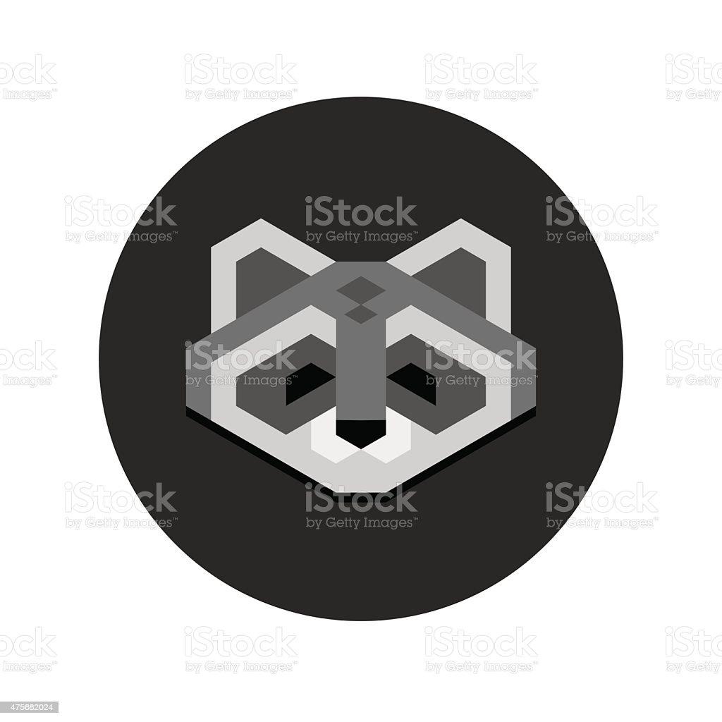 Geometric Raccoon Head Stock Illustration Download Image Now Istock