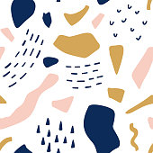 Geometric retro abstract seamless pattern. Fashion fabric background illustration
