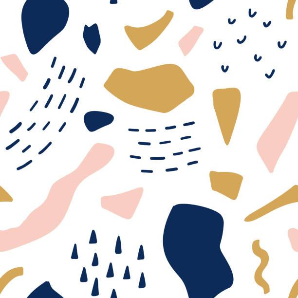 Geometric retro abstract seamless pattern. Fashion fabric background illustration Geometric retro abstract seamless pattern. Fashion fabric background illustration youth culture stock illustrations