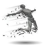Geometric runner or jumper
